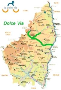 Tracé Dolce Via Ardèche