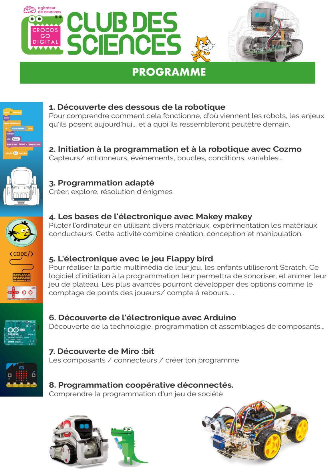 Crocos Go Digital, des ateliers de programmation pour les enfants