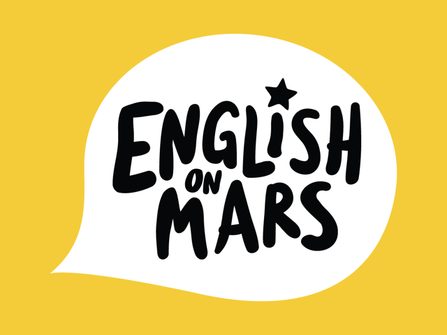 Logo English on mars
