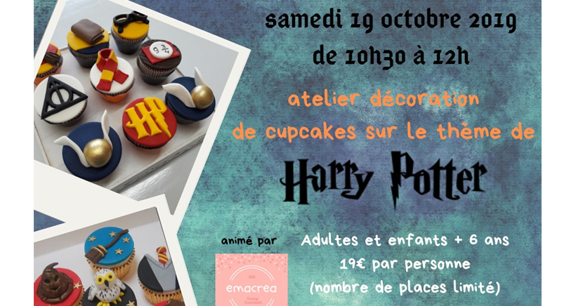 Atelier cupcakes Harry Potter