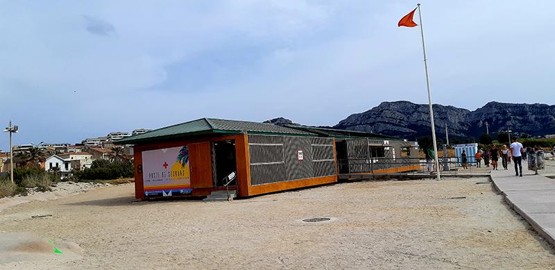 Poste de secours plage à Marseille