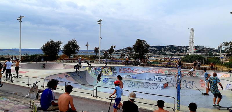 Plage du Prado à Marseille le Skatepark