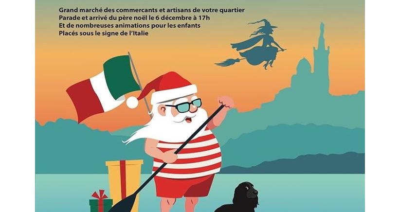 Le Père Noël débarque à Endoume