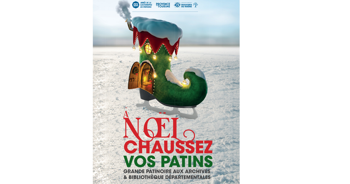 Patinoire de Noël aux Archives à Marseille
