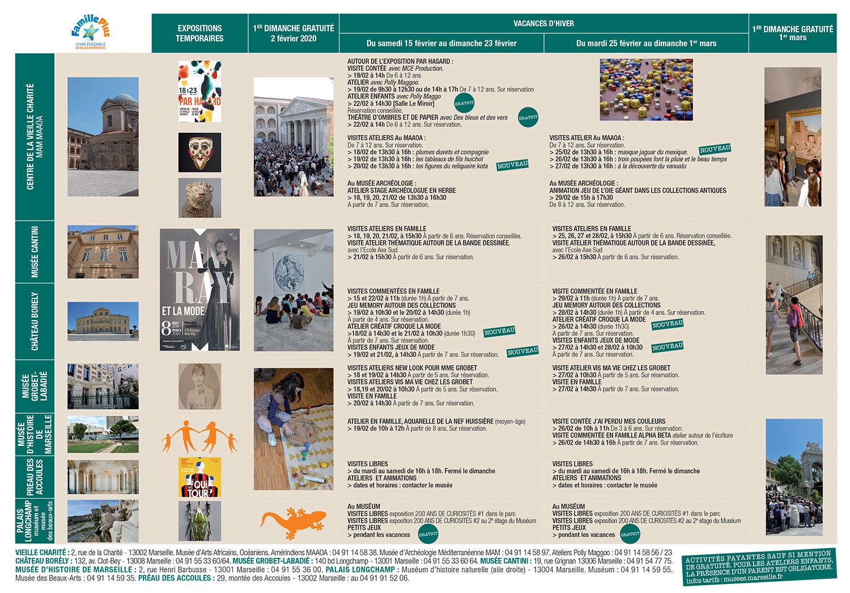 Programme des vacances de février dans les musées de marseille