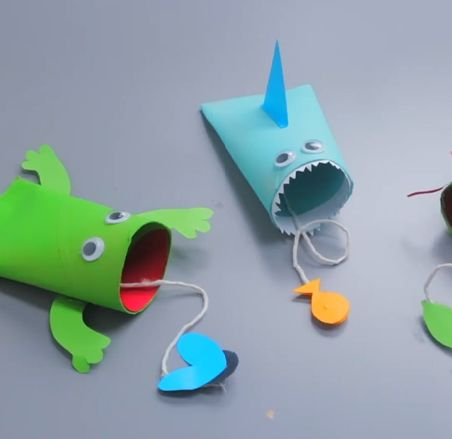 Activité créative enfant rouleau papier