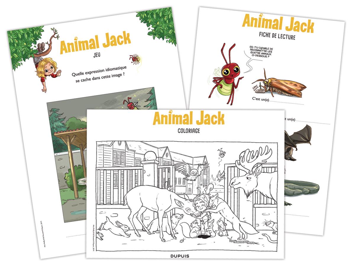 Activités à télécharger autour du livre Animal Jack