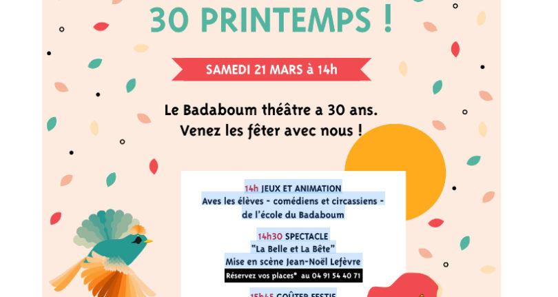 Le Badaboum Théâtre fête ses 30 ans