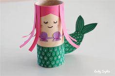 Activité créative enfant rouleau papier sirène