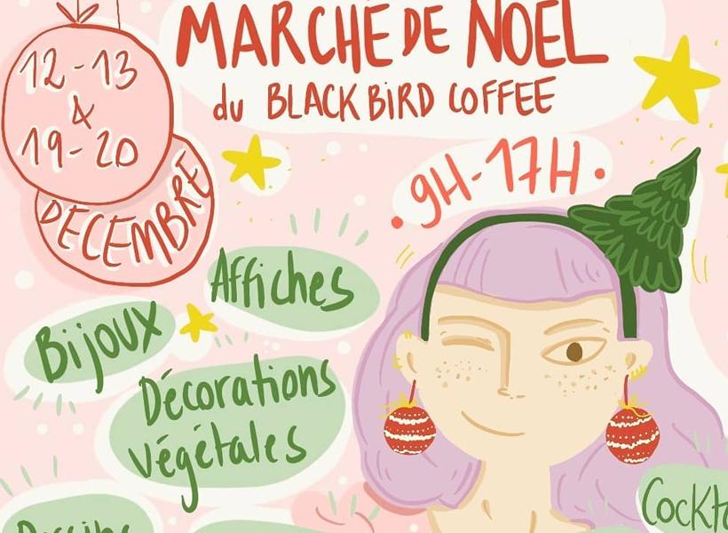 Marché de Noel au Black Bird Coffee à Marseille
